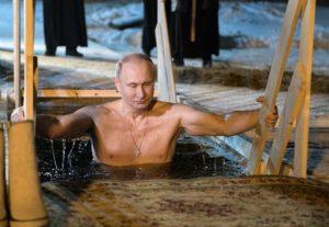 купание Президента на крещение