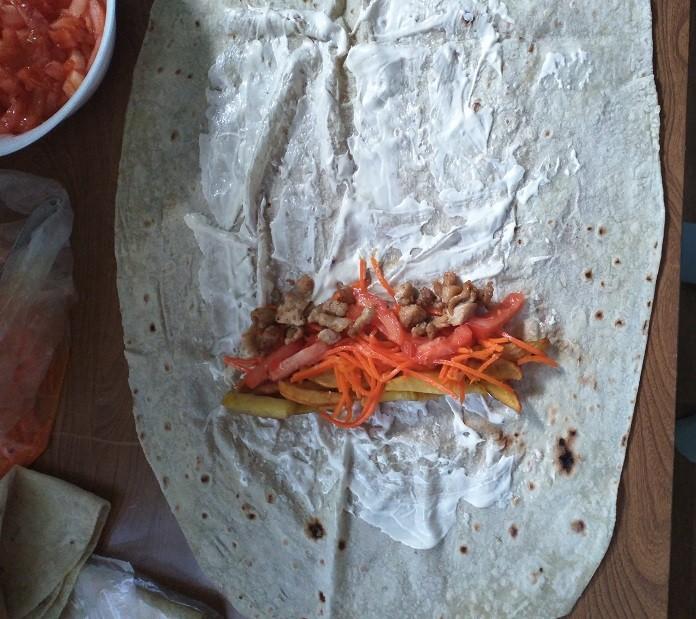 Приготовление шаурмы по простому рецепту