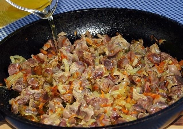 Рецепт приготовления куриных желудочков